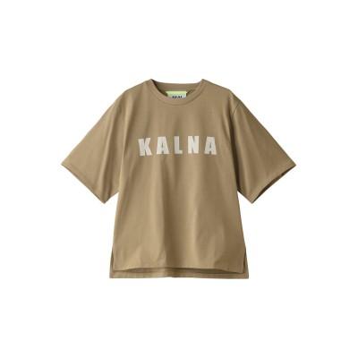 KALNA カルナ ロゴ Tシャツ レディース ベージュ 0
