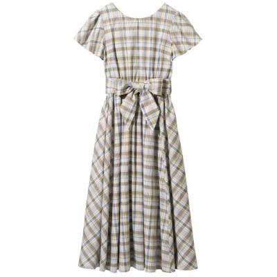 【大きいサイズ】 ウエストリボンフレアロングワンピース ワンピース, plus size dress