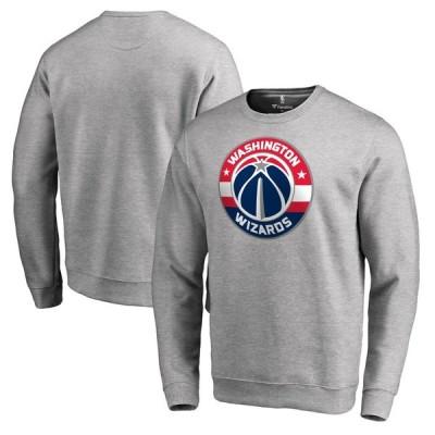 ワシントン・ウィザーズ Fanatics Branded Primary Logo スウェットシャツ - Heathered Gray