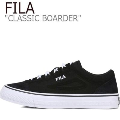 フィラ スニーカー FILA メンズ レディース CLASSIC BOARDER クラシック ボーダー BLACK ブラック FS1STB3012X シューズ