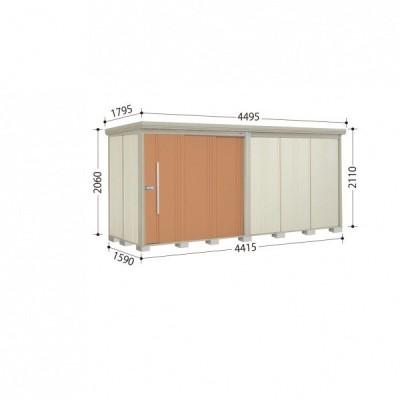 物置 屋外 おしゃれ タクボ物置 ND/ストックマン ND-S4415 多雪型 標準屋根 『追加金額で工事可能』 トロピカルオレンジ