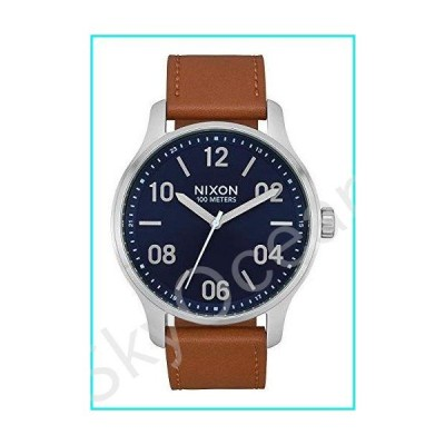 NIXON Men's Stainless Steel Quartz Watch with Leather Strap, Brown, 21 (Model: A1243-2186-00)【並行輸入品】