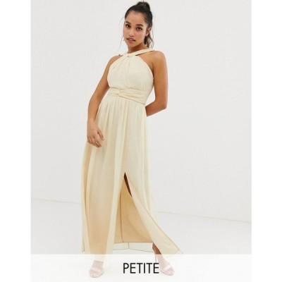 リトル ミストレス Little Mistress Petite レディース ワンピース ワンピース・ドレス cross front maxi dress in cream Cream