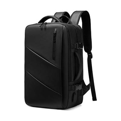StarCamBag ビジネスリュック メンズ 17.3インチPC対応 マチ拡張 大容量 防水 3way 機内持ち込みスーツケース usbポート付き ブラック
