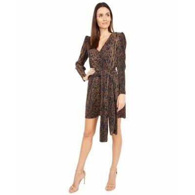 ワイフ ワンピース トップス レディース Riverside Puff Sleeve Dress Leopard Plisse