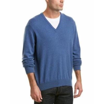 ファッション トップス Turnbull & Asser Merino V-Neck Sweater Xl Blue