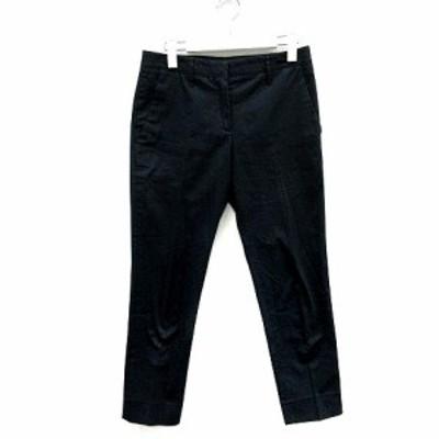 【中古】ミュウミュウ miumiu パンツ テーパード チノパン 36 S 紺 ネイビー /SR レディース