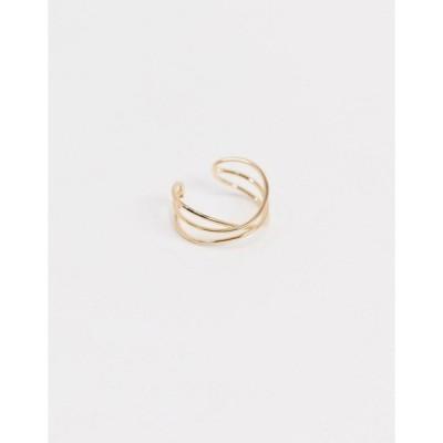 エイソス レディース ピアス&イヤリング アクセサリー ASOS DESIGN ear cuff in wire wrap in gold tone Gold