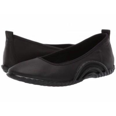 ECCO エコー レディース 女性用 シューズ 靴 フラット Vibration 1.0 Ballerina Black【送料無料】