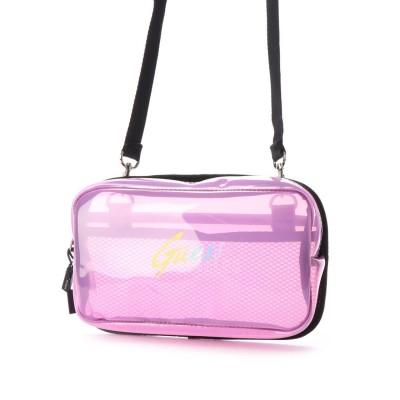 ゲス GUESS LOGO CLEAR SHOULDER BAG (PINK)