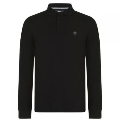 ティンバーランド Timberland メンズ ポロシャツ トップス Miller Long Sleeve Polo Shirt Black
