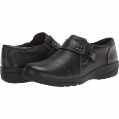 クラークス Clarks レディース ローファー・オックスフォード シューズ・靴 Cheyn Onyx Black Tumbled Leather