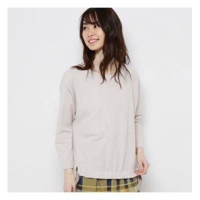【スマート ピンク/smart pink】 【手洗い可】ストレッチ裾リボンプルオーバー