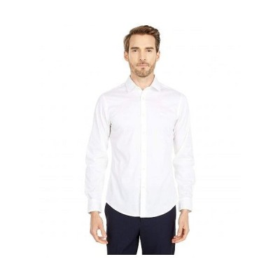 Dockers ドッカーズ メンズ 男性用 ファッション ボタンシャツ Long Sleeve Slim Fit Supreme Flex Poplin Shirt - Paper White