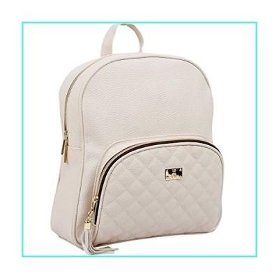 【新品】Copi Women's bags Lovely, feminine Round Shape Design Quilted Point Small Backpacks Ivory(並行輸入品)