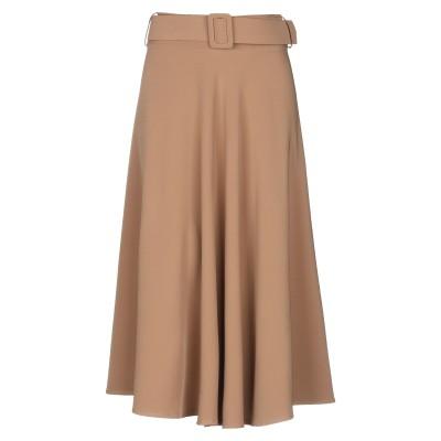 スーベニア SOUVENIR 7分丈スカート キャメル S ポリエステル 89% / ポリウレタン 11% 7分丈スカート