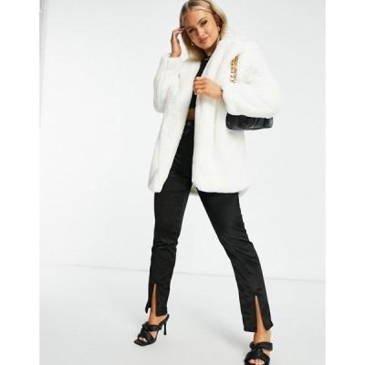 アイソウイットファースト I Saw It First レディース コート ファーコート ロングコート アウター Longline Super Soft Faux Fur Coat ホワイト