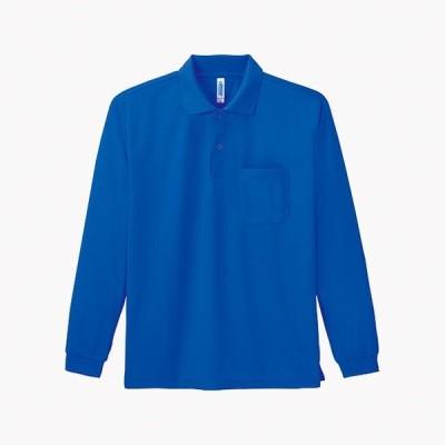 トムス チームTシャツ ユニフォーム 00335-032-L-ALP 4.4オンス ドライ長袖ポロシャツ(ポケット付) ロイヤルブルー L 00335-032-L <2019AWCON>