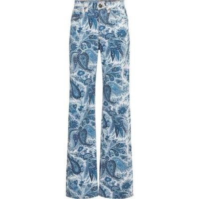 エトロ Etro レディース ジーンズ・デニム ボトムス・パンツ paisley high-rise straight jeans Blu