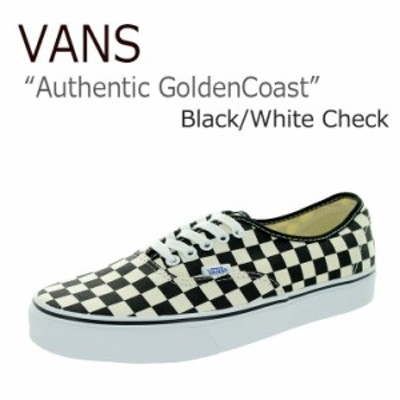 VANS AUTHENTIC Golden Coast/Black/White Check バンズ オーセンティック VN-0W4NDI0 VN000W4NDI0 シューズ