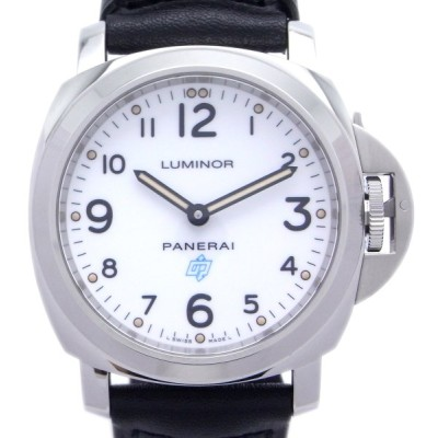 パネライ ルミノール ベースロゴ PAM00630 腕時計 ステンレススチール PANERAI ホワイト 文字盤 メンズ 中古 (銀座店)/DH48084