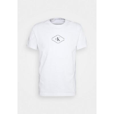 カルバンクライン Tシャツ メンズ トップス MONOTRIANGLE TEE - Print T-shirt - bright white