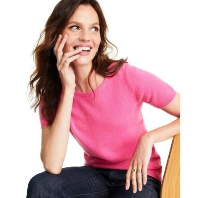 チャータークラブ ニット&セーター アウター レディース Cashmere Crewneck Sweater Peony Pink