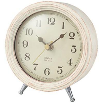 時計 ノア精密 置き時計 NOA rimlex エアリアルレトロミニ T-688 WH 【返品種別A】