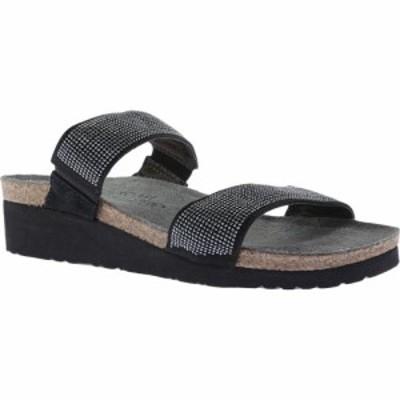 ナオト Naot レディース サンダル・ミュール シャワーサンダル シューズ・靴 Bianca Slide Sandal Black/Silver Rivets/Black Velvet Nub