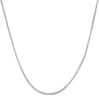 ストーンのついていない貴金属 フレメダ Fremada Sterling Silver Italian 1 mm Italian Foxtail Necklace
