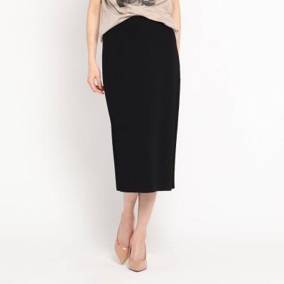クードシャンス COUP DE CHANCE 【洗える】ワイドリブタイトスカート (ブラック)