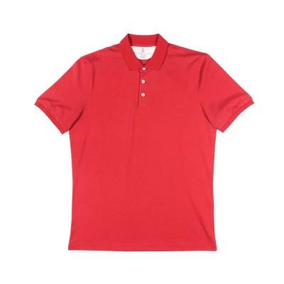 BRUNELLO CUCINELLI(ブルネロクチネリ) 半袖ポロシャツ M0T618356 レッド XL 25584rd 【S25584】