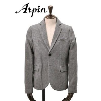 アルパン  Arpin メンズ ウールジャケット 2つ釦シングル ADRET グレー ボンヌバル織り メリノウール ブレザー クラシック でらでら 公式ブランド