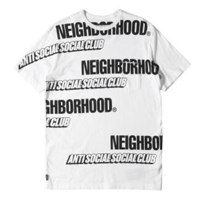 NEIGHBORHOOD ネイバーフッド Tシャツ 19AW Anti Social Social Club ブランドロゴ Tシャツ ASSC / C-TEE . SS ホワイト M 【メンズ】【
