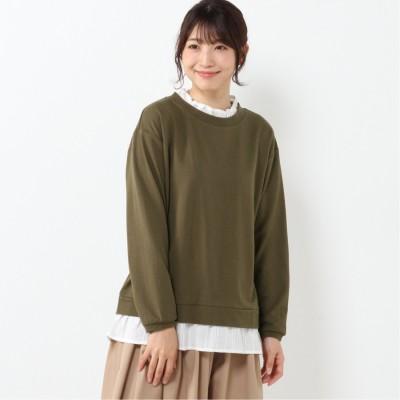 【nojean】フェイクレイヤード長袖Tシャツ【M―5L】(ノージーン/NO JEAN)