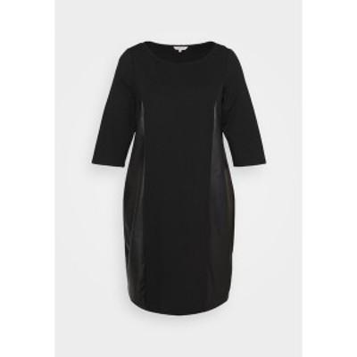 マイ トルー ミー トム テイラー レディース ワンピース トップス DRESS ABRIC MIX - Day dress - deep black deep black