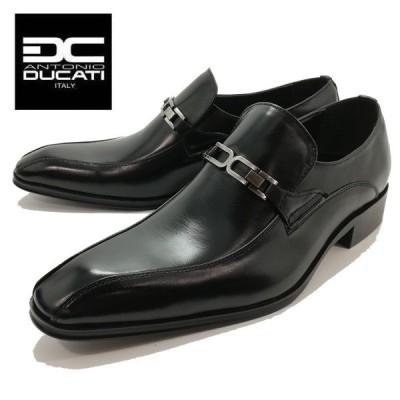 アントニオ ドゥカティ ビットスリポン ブラック 紳士靴 ビジネスシューズ メンズ 1182 ANTONIO DUCATI