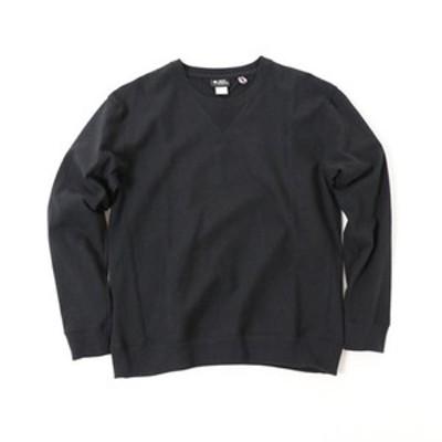 gym master アウトドアシャツ プレミアムヘビー ウェイトクルーネック  L  05(ブラック)