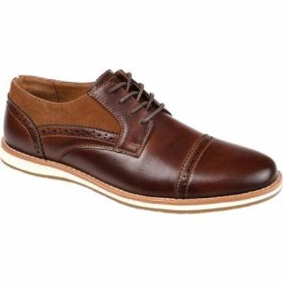 バンス Vance Co. メンズ 革靴・ビジネスシューズ ブローグ ダービーシューズ シューズ・靴 Griff Cap Toe Brogue Derby Brown Faux Leat