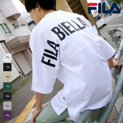 FILA tシャツ Tシャツ メンズ おしゃれ 半袖 カットソー バックプリント ロゴ ビッグシルエット オーバーサイズ フィラ 夏 夏服 (fh7721) #