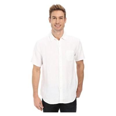 トミー バハマ Tommy Bahama メンズ 半袖シャツ トップス Sea Glass Breezer S/S Camp Shirt White