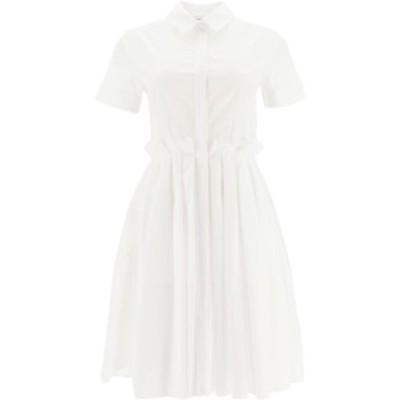 ALEXANDER MCQUEEN/アレキサンダー マックイーン White Alexander mcqueen cotton dress レディース 秋冬2020 629356 QAAAD ik