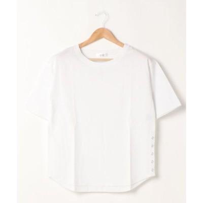 tシャツ Tシャツ 【新色追加】サイドスナップボタンTシャツ