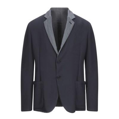 エンポリオ アルマーニ EMPORIO ARMANI テーラードジャケット ダークブルー 50 コットン 100% テーラードジャケット
