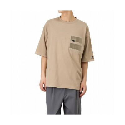 【マックハウス】 KANGOL カンゴール デザインポケットTシャツ KPMC-10171-Z メンズ ベージュ L MAC HOUSE