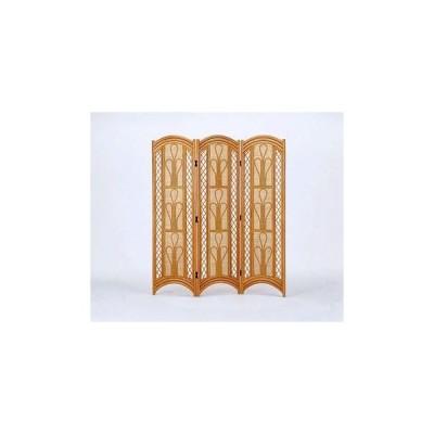 間仕切り家具 パーテーション 籐スクリーン3パネル H155 ブラウン色 IMB712 アジアン ついたて衝立 今枝商店 籐