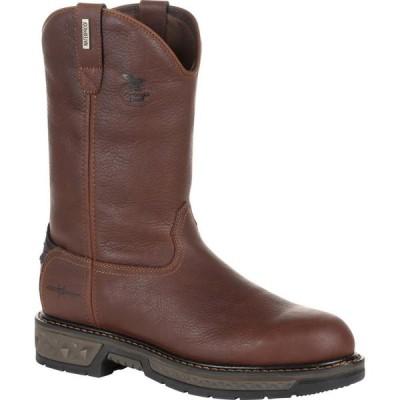 ジョージアブーツ Georgia Boot メンズ ブーツ ワークブーツ シューズ・靴 Carbo-Tec LT Waterproof Pull-on Work Boot brown
