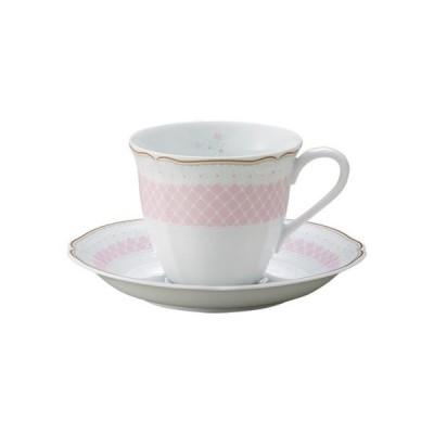 ノリタケ 食器 デイジーベル コーヒー碗皿 (ピンク)