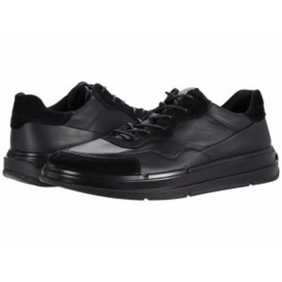 ECCO エコー メンズ 男性用 シューズ 靴 スニーカー 運動靴 Soft X Sneaker Black/Black Cow Leather/Calf Suede【送料無料】