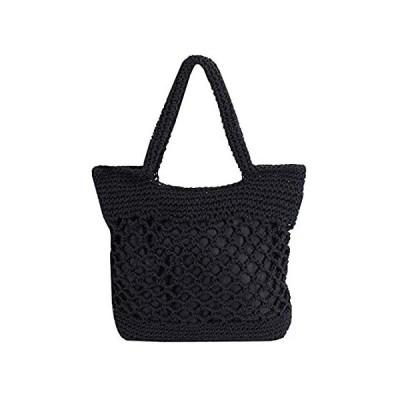 Monique Women Solid Color Hand-woven Crochet Handbag Top-handle Bag Summer